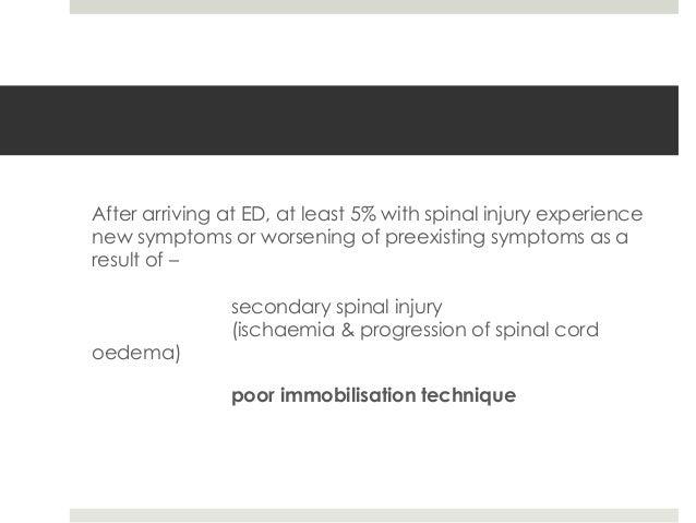 Management of spinal trauma