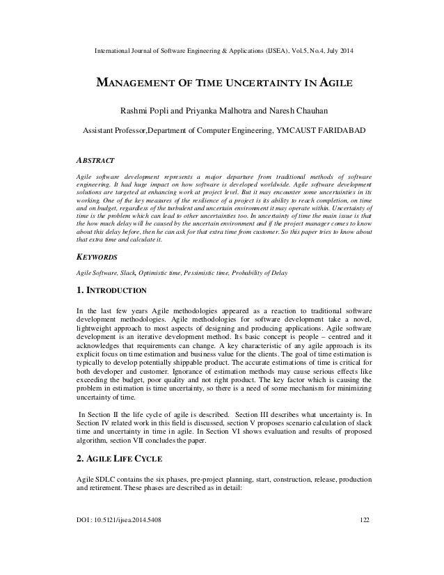 International Journal of Software Engineering & Applications (IJSEA), Vol.5, No.4, July 2014 DOI : 10.5121/ijsea.2014.5408...