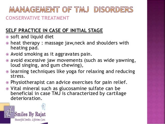 Management Of Tmj Pain