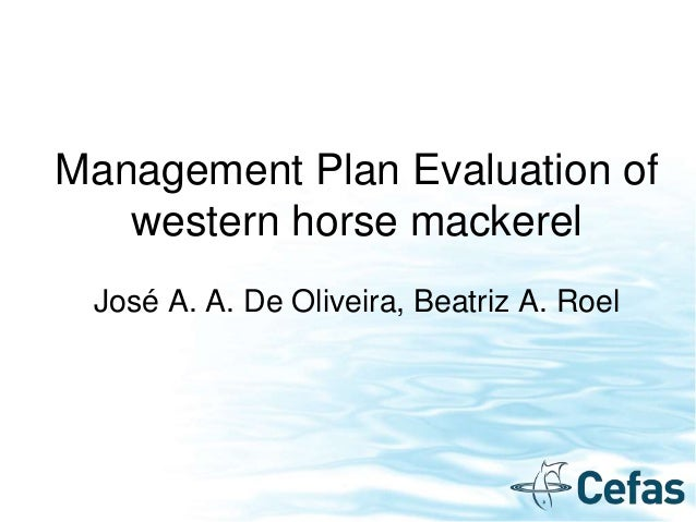 Management Plan Evaluation of western horse mackerel José A. A. De Oliveira, Beatriz A. Roel