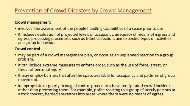 crowd management plan template