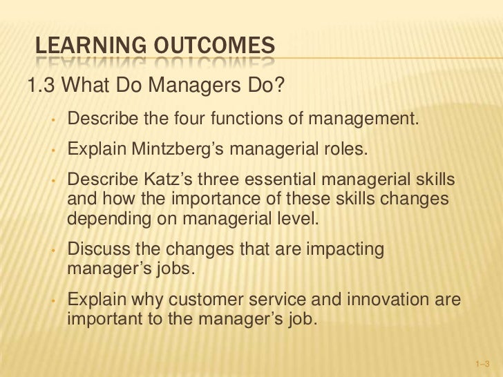fayols management functions mintzbergs and katzs skills are important Fayol's management functions mintzberg's  robert katz identified 3 types of  management skills:  see also: fayol, mintzberg, katz, luthans skill summary.