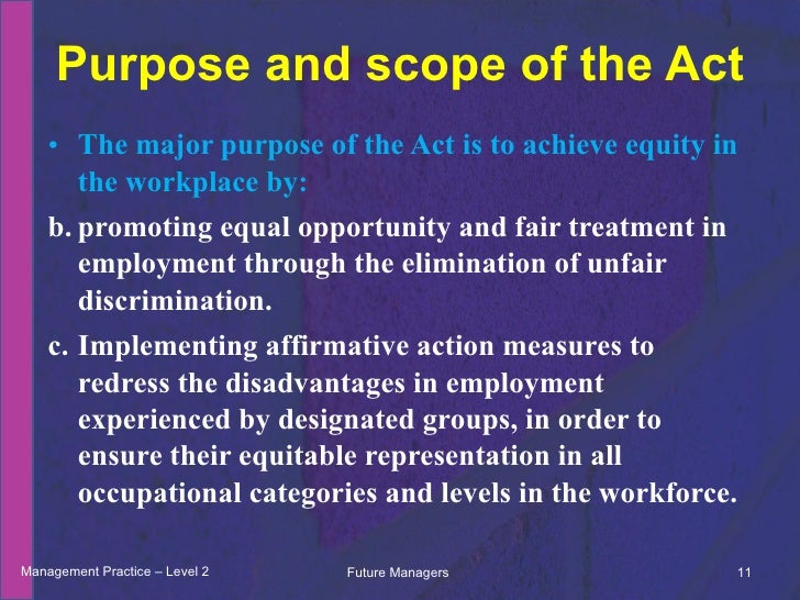 affirmative action elimination of discrimination in the workplace Affirmative action essay introduction affirmative action refers to the policy of ensuring that certain groups perceived to be disadvantaged in the community receive special favors or opportunities over others, especially [.