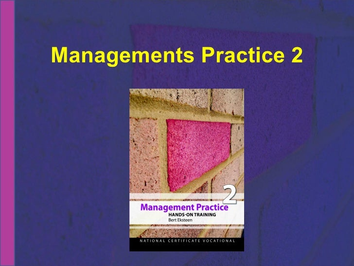 Managements Practice 2