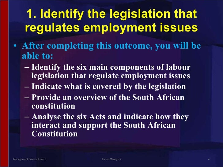 identify the legislation that relates to