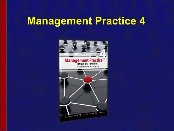 Management Practice 4