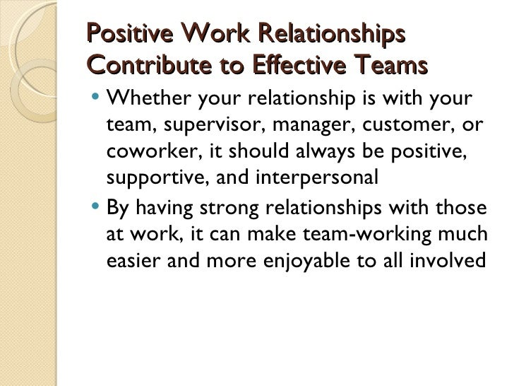 relationship and team work
