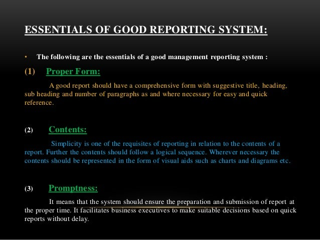 essentials of good report writing ppt