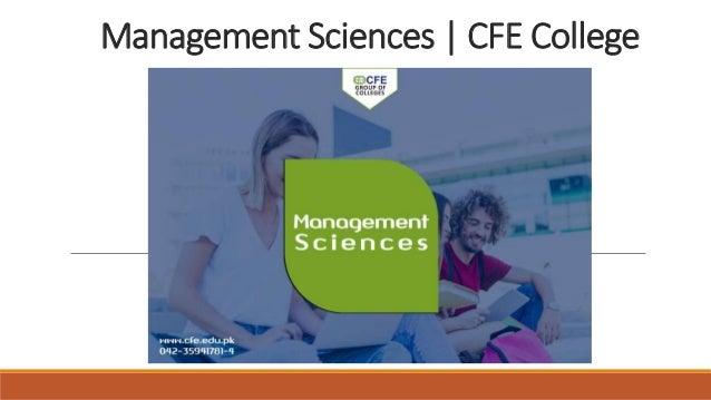 Management Sciences   CFE College