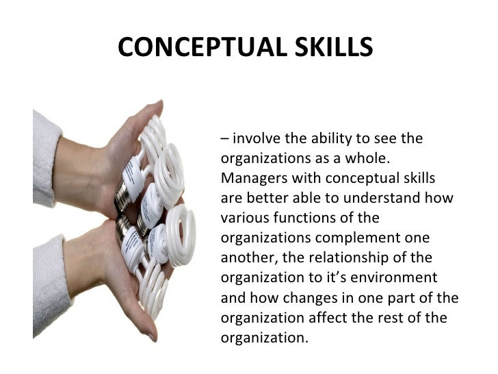 conceptual skills Behavourial competencies - management services - conceptual and analytical  ability.