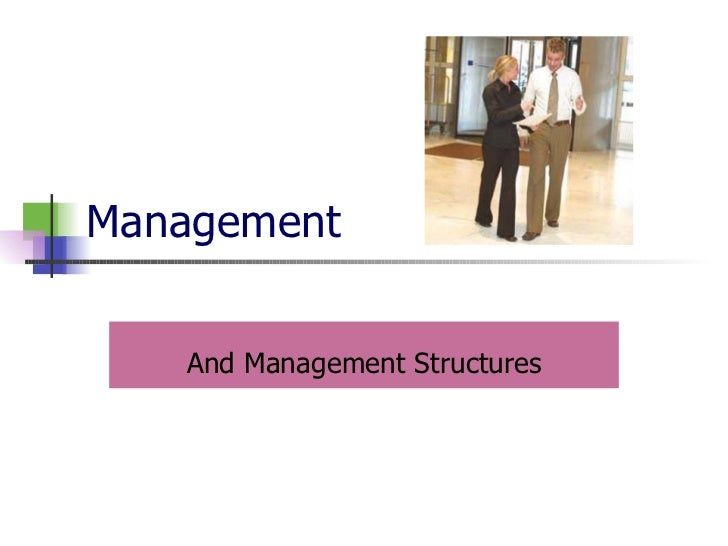 Management And Management Structures
