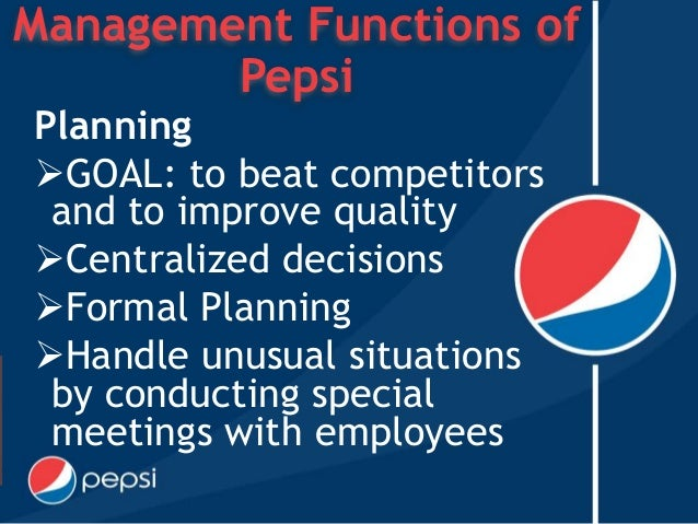 organization of pepsi