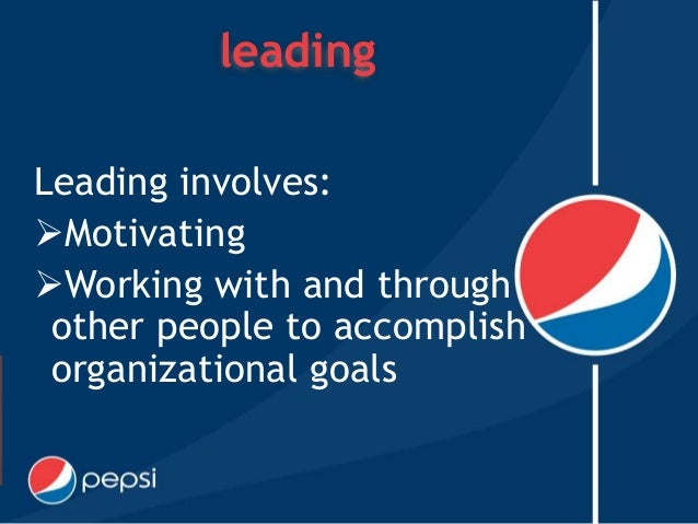 "pepsi employee motivation Coca cola is one of the most successful of the beverage of industry all over the world nowadays in every successful business they must have a good way to motivate their staff ""in coca cola one of their way to motivate staff is through the working performance of employee, since if employee is hard to."