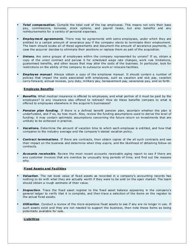 Management takeover checklist taufir