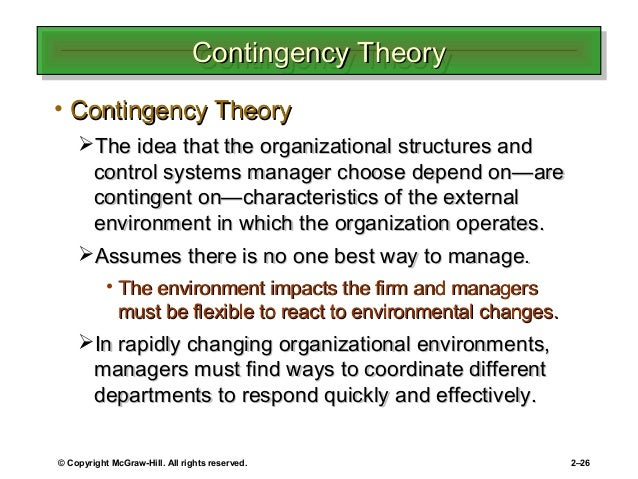 contingency management theory Contingency management leads to preparedness in the event of an emergency, disaster, or system failure it utilizes risk assessment and is intended to identify vulnerabilities and threats, and to.