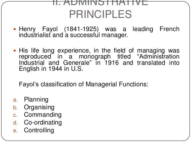 14 Principles of Management (Fayol)
