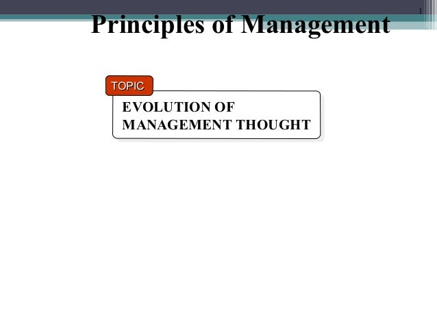 presentation schools of management thought The school of thought is hindered in its ability to implement practical approaches towards strategic management strategic management is a dynamic process that needs to take into account various variables.