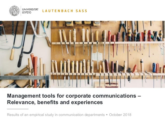 Management Tools For Corporate Communications Relevance