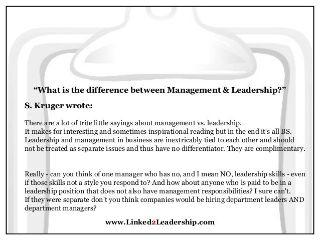 foundations of management leadership vs management What is the difference between leadership and management this lesson will take a look at john kotter's theory on the differences between.