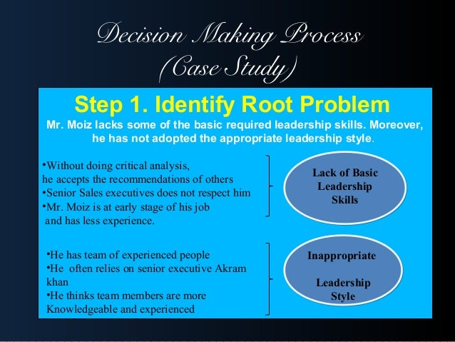 Decision making- case study - SlideShare