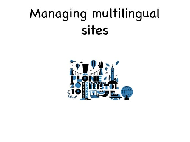 Manage multilingual sites
