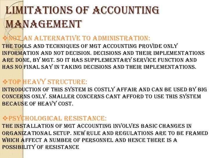 Alternatives to overcome limitations of financial accounting