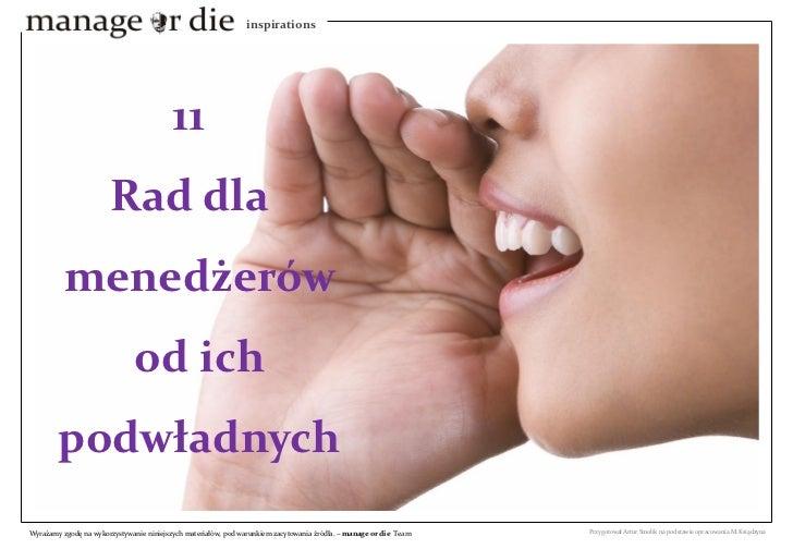 inspirations                                               11                        Rad dla           menedżerów         ...