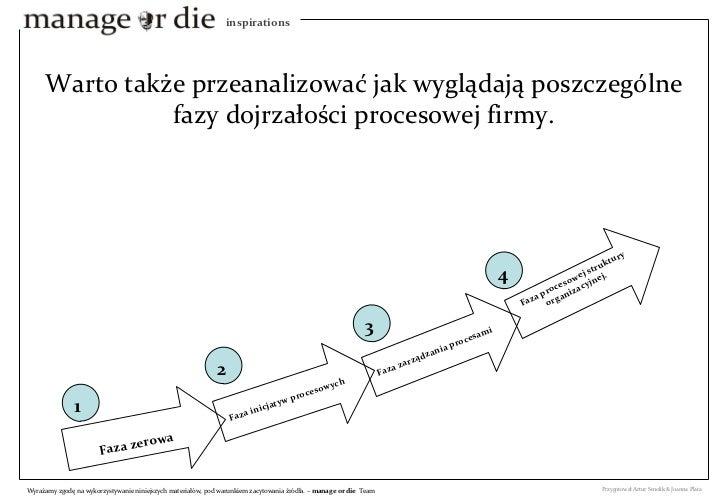 Warto także przeanalizować jak wyglądają poszczególne fazy dojrzałości procesowej firmy. Faza zerowa Faza inicjatyw proces...