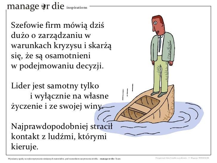 Samotność szefa - Manage or Die Inspiration Slide 3