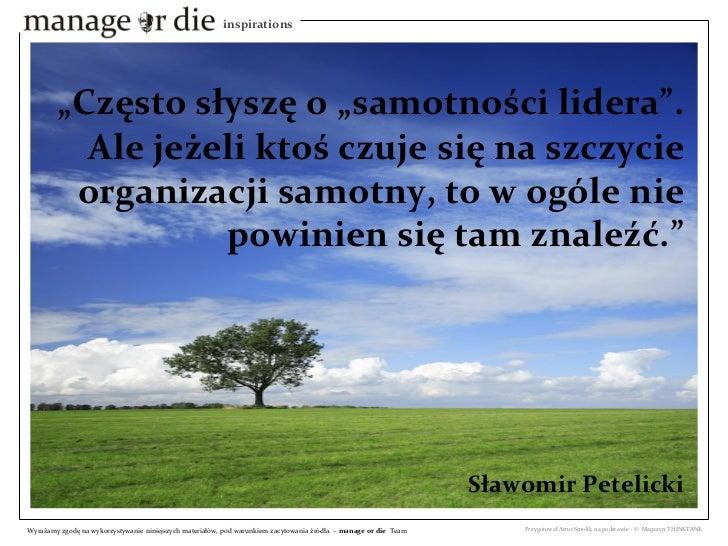 pdf - Samotność szefa - Manage or Die Inspiration Slide 2