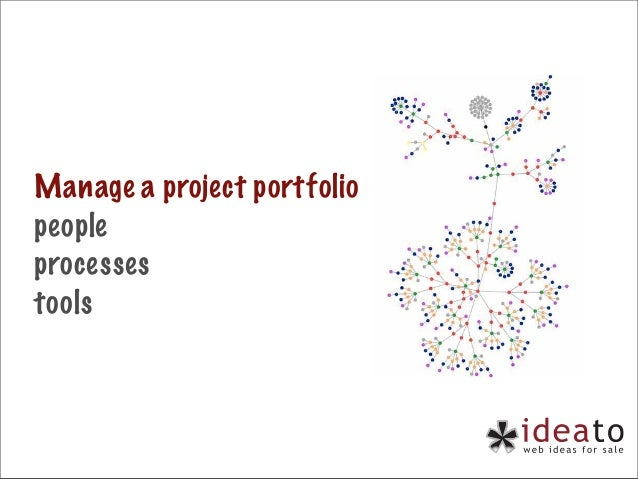 Manage a project portfolio people processes tools
