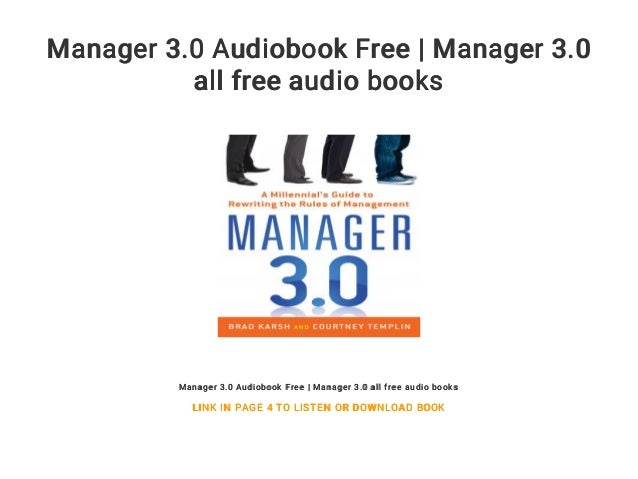 Manager 3 0 Audiobook Free | Manager 3 0 all free audio books