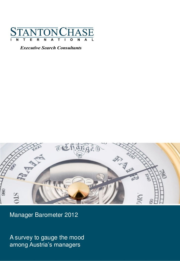 Manager Barometer 2012February, 2012A survey to gauge the moodamong Austria's managers