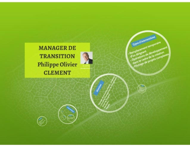 Manager de transition philippe olivier clement