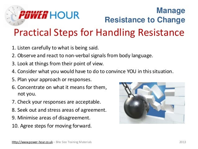 dissertation on managing resistance to change Managing change is easy to do badly and difficult to do well writing a dissertation or thesis sub-sections research methods teaching, coaching there is considerable research on understanding and overcoming resistance to change see our page on resistance to change for more.