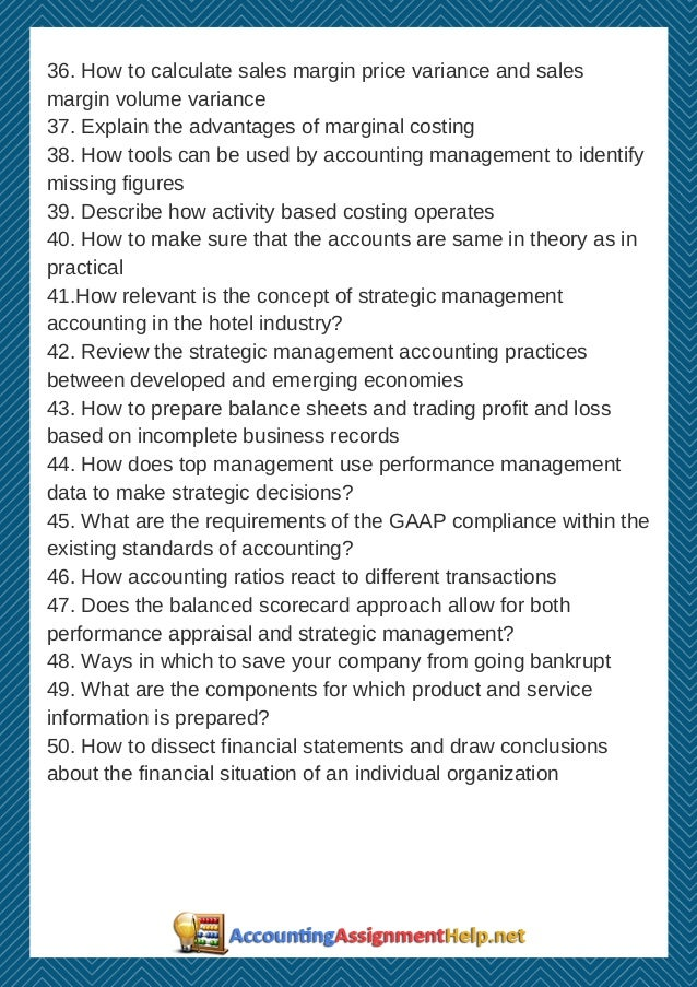managerial accounting research topics