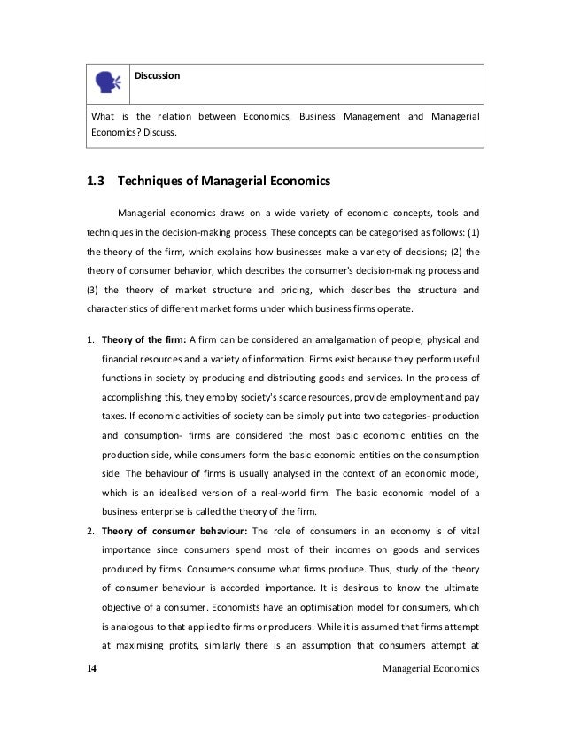 tire company managerial economics It concludes that managerial commitments played an important role in tire makers '  without changing the terms of business, with predictable adverse economic.