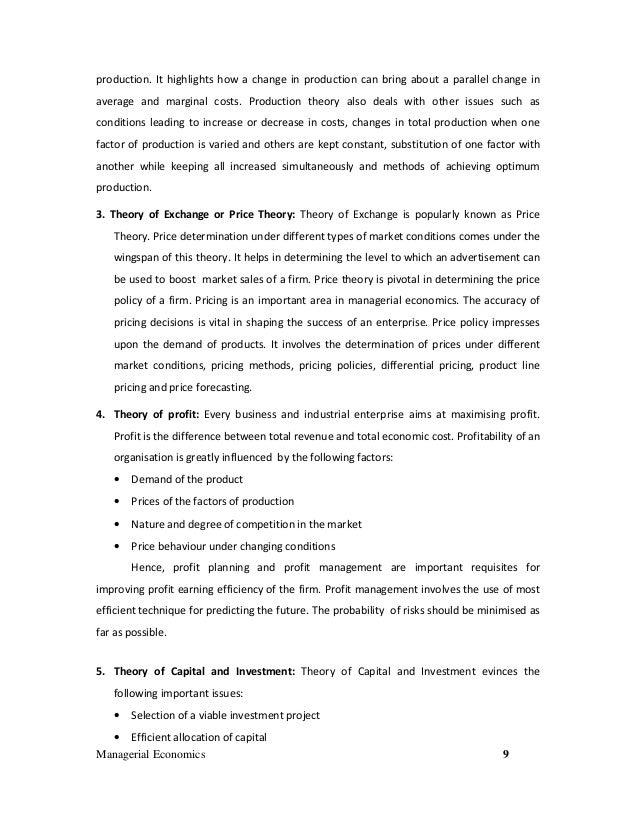 Managerial Economics Notes Pdf