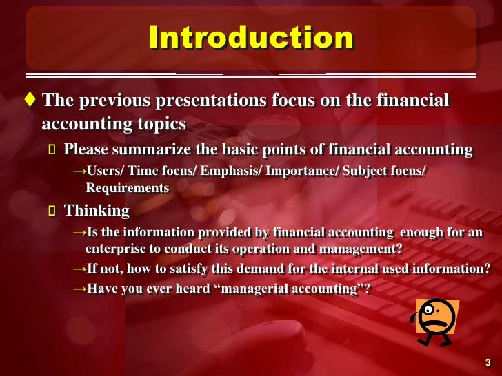 importance of managerial accounting Get expert answers to your questions in hotel management and management accounting and more on researchgate, the professional network for scientists.
