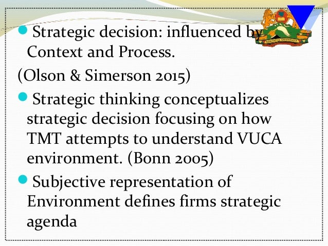 Managerial cognitions in strategic management seminar