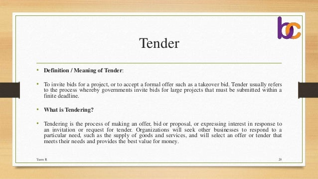 Cover letter quotations tender e tender tender definition spiritdancerdesigns Choice Image