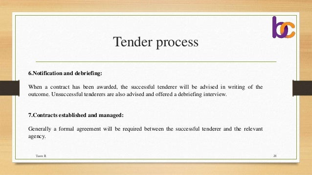 tender cover letter sample