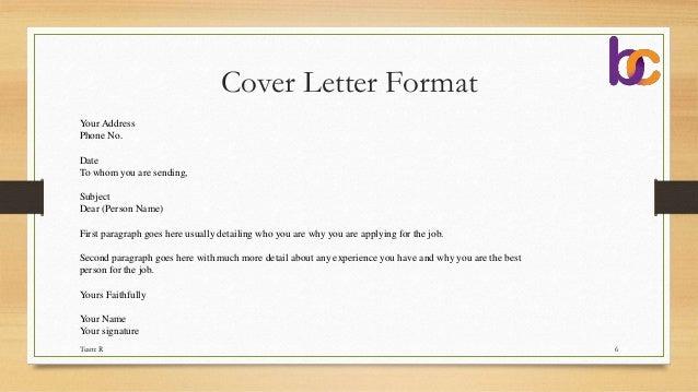 example of tender letter