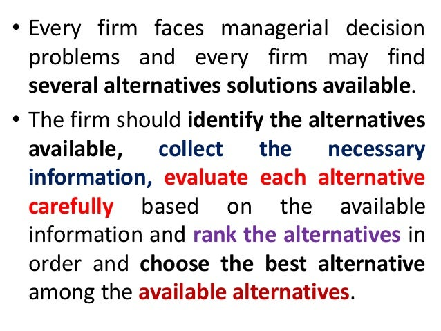 macroeconomics and managerial decision making essay The heuristic approach to decision-making makes decisions based on routine thinking, which, while quicker than step-by-step processing, opens the risk of introducing inaccuracies, mistakes and fallacies, which may be easily disproved in a step-by-step process of thinking.
