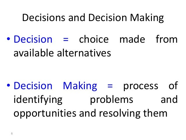 managerial economic decision making essay Understanding the process of managerial decision-making can  that is not to say that a managerial decision cannot  basic factors of economic decision making.