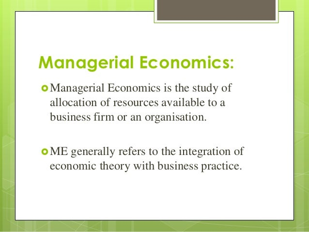managerial economics theory and practice Managerial economics-theory and practice on amazoncom free shipping on qualifying offers.