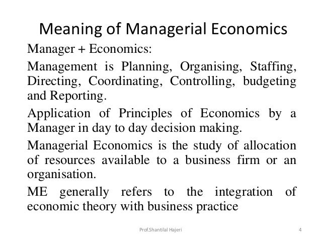 managerial economics theory and practice To understand what managerial economics looks like in practice, stefan explains how google's auction-based advertising system employs the principles of game theory and how understanding this can help decision makers to outmaneuver their competitors.