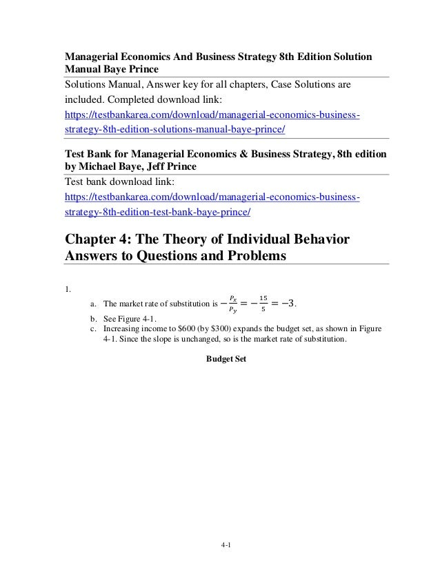 Strategy & business edition pdf managerial 8th economics