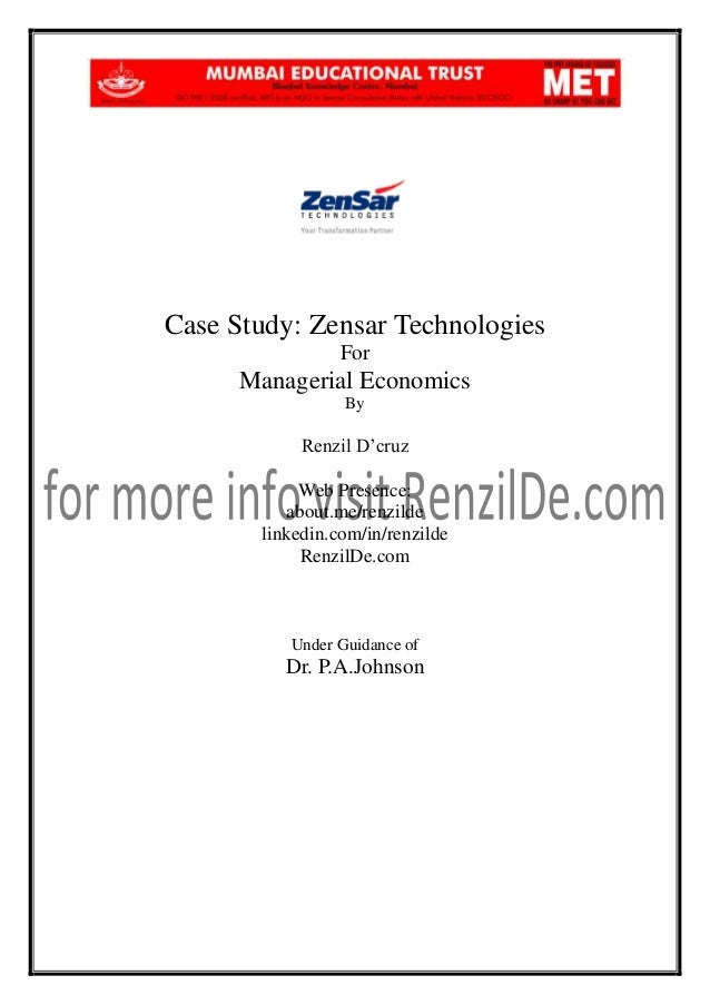 Managerial economics case study