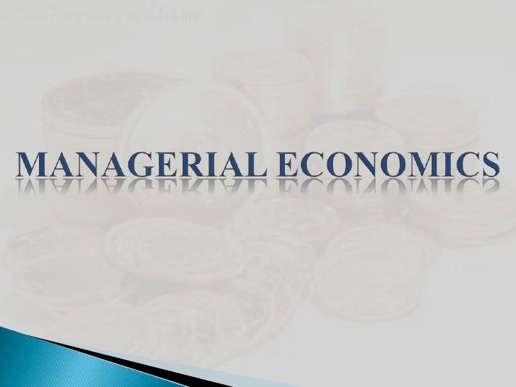 Managerial Economics<br />